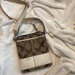 Cream tan crossbody bag